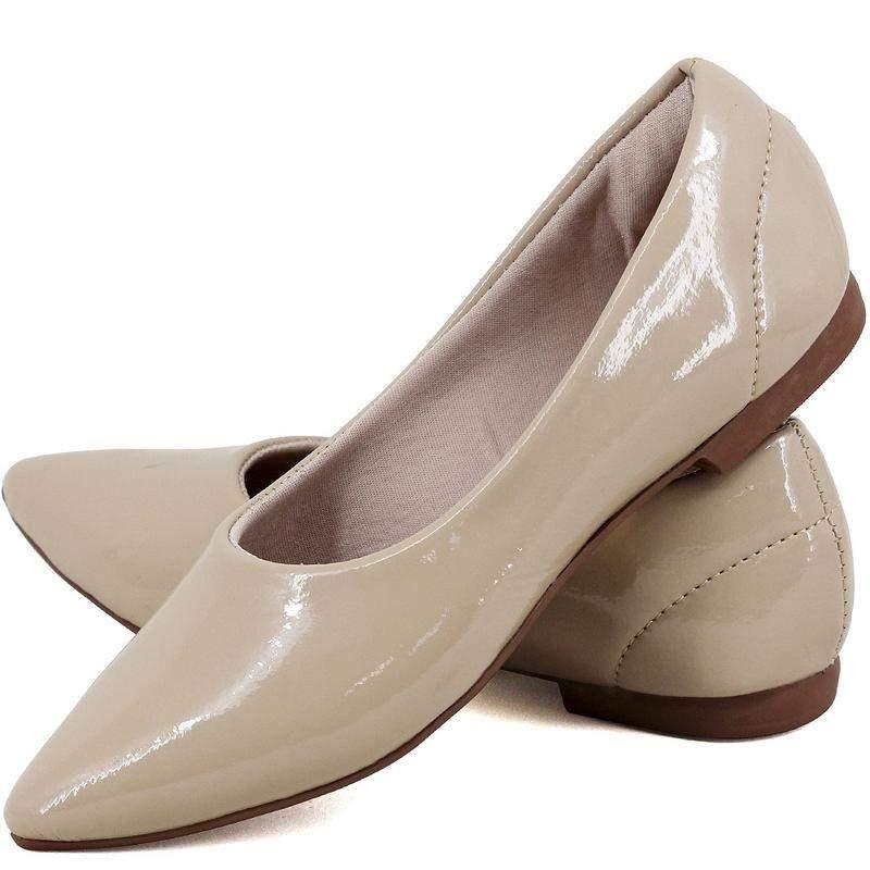 d6c9a9c79 ... Kit 2 pares de sapatilhas bico fino verniz nude e vermelho4 ...