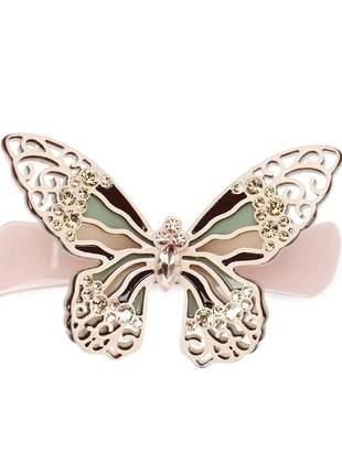 Presilha de cabelo em acetato - borboleta primavera fashion