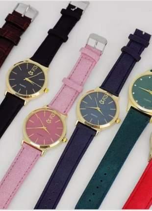 Kit 10 lindos relógios feminino multicolor atacado p/revenda