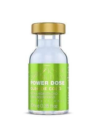 Power dose óleo de coco fios de porcelana 10ml