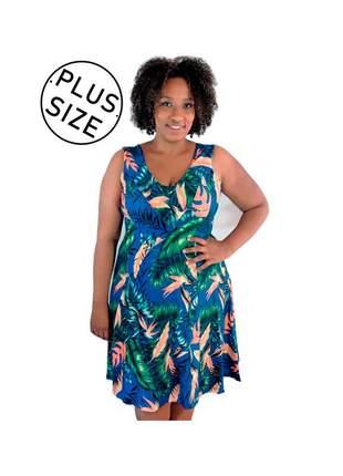 Vestido infinity fashion plus size floral azul