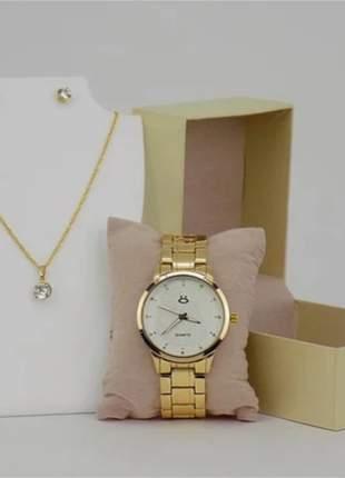 Relógio orizom original - leve de brinde 1 colar + 1 par de brinco