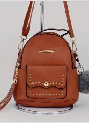 132ec425e Bolsa mochila alça transversal - R$ 59.90 (em couro, couro sintético ...