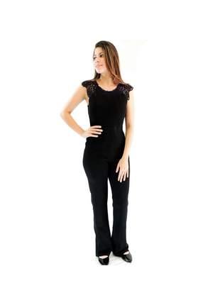 Macacão infinity fashion guipir preto