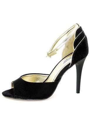 Sandália infinity shoes salto fino preto