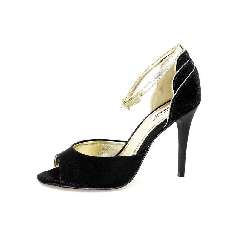 64bd523dd Sandália infinity shoes salto fino preto - R$ 189.90 (para festa, em ...