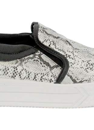 Tenis dali shoes flatform animal print cobra feminino