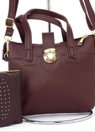Kit com bolsa + carteira
