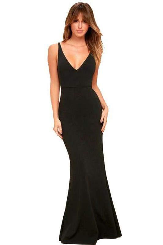 e134c22bc9 Vestido feminino longo decote em v. - R  99.99 (com estampa de ...