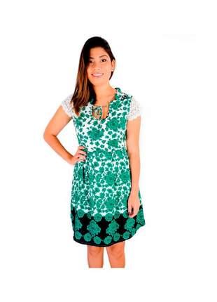 Vestido infinity fashion floral verde