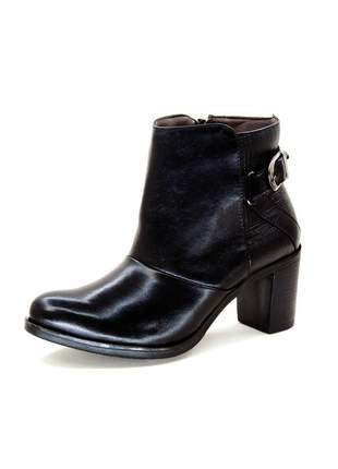 Bota infinity shoes cano curto soft box preto