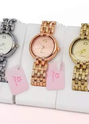 Kit 3 relógios luxo original