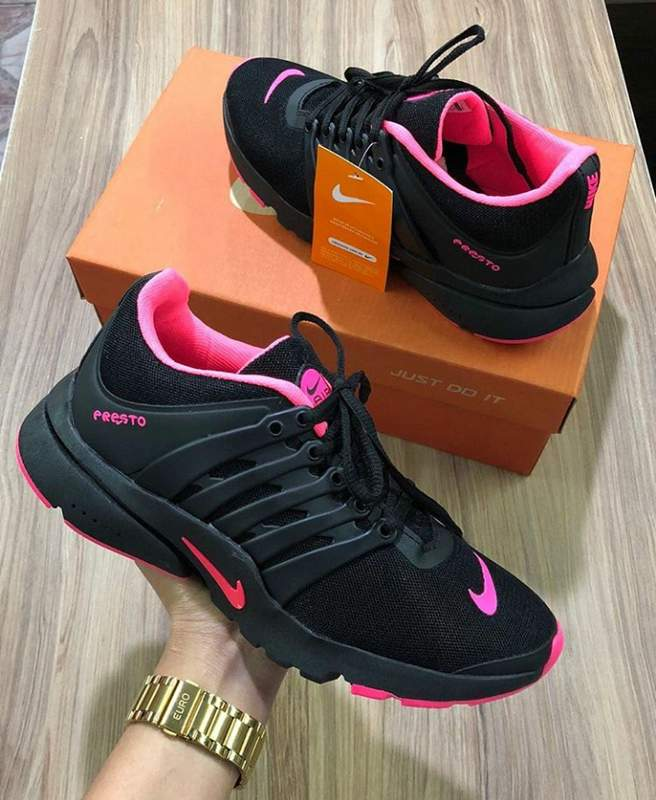 Comercial Espacioso Rezumar  Tênis nike air presto preto/pink - R$ 119.00, cor Preto #17338, compre  agora | Shafa