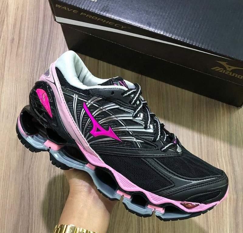 Tênis mizuno wave prophecy 8 preto rosa R$ 229.00 | SHAFA O melhor da moda feminina