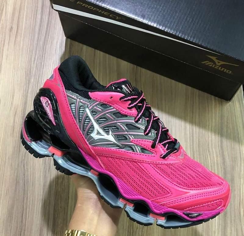 Tênis mizuno wave prophecy 8 pink R$ 229.00 | SHAFA O melhor da moda feminina