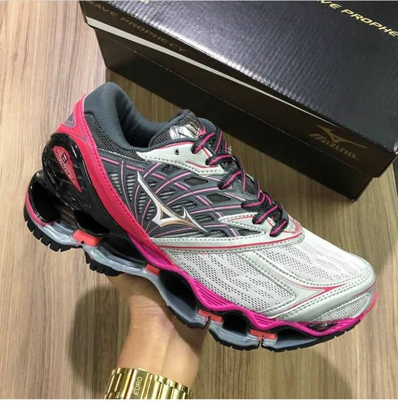 Tênis mizuno wave prophecy 8 prata pink R$ 229.00 | SHAFA O melhor da moda feminina