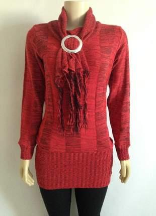 Blusa de frio cacharrel vermelho