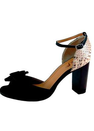 Sandália infinity shoes reptil preto #blackfriday