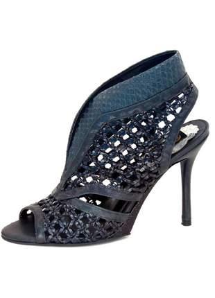 Sandália fernando pires salto fino preta #blackfriday