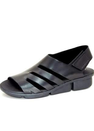 Sandália infinity shoes conforto latego preto