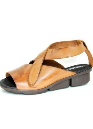 Sandália infinity shoes conforto atanado caril
