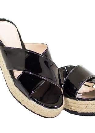 Sandália flatform butique de sapatos preta em x - s2021-38