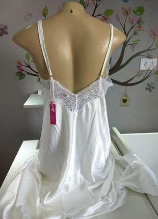 Camisola longa em seda com detalhes