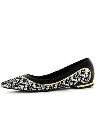 Sapatilha infinity shoes k étnico preta