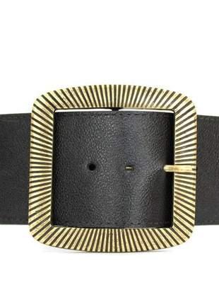 Cinto faixa couro dali shoes preto