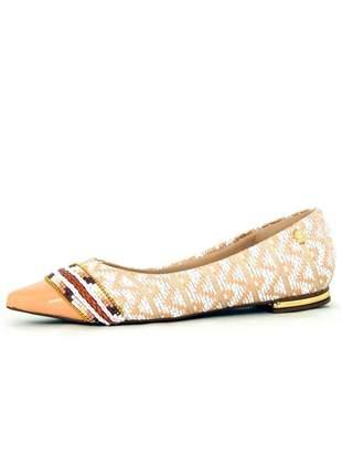 Sapatilha infinity shoes miçangas bege