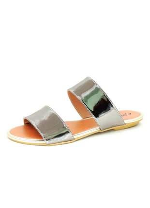 Rasteira infinity shoes specchio chumbo
