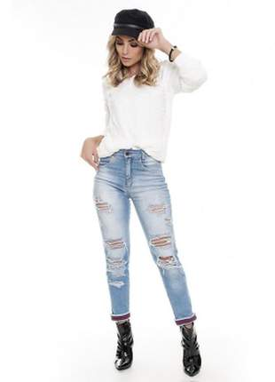 Calça jeans skinny destroyer - lemier - fc000602