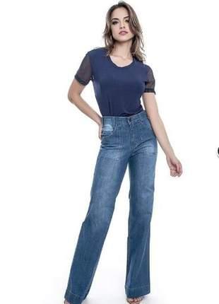 Calça pantalona jeans - lemier - fc000670