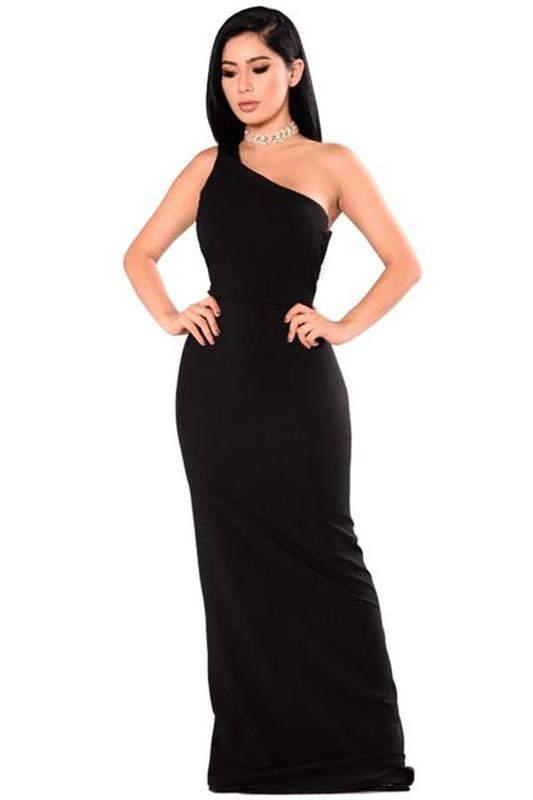 Vestido Longo Festa Um Ombro Só R 12999 Shafa O Melhor Da Moda Feminina