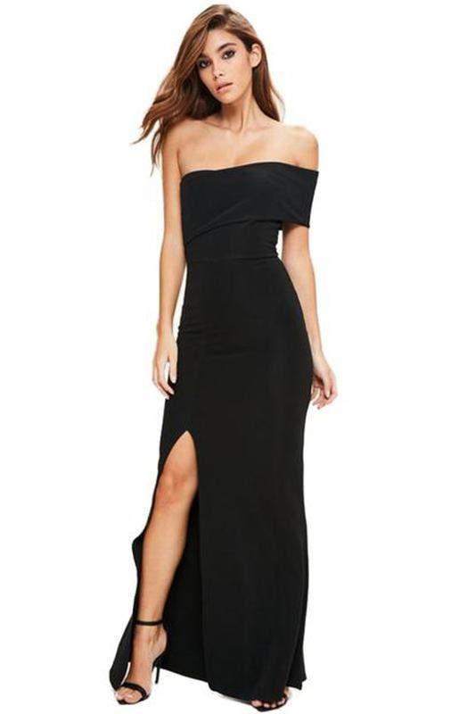 422efb7d1 Vestido longo com fenda tomara que caia - R$ 99.99 (com estampa de ...