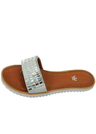 Rasteira infinity shoes k pedraria prata