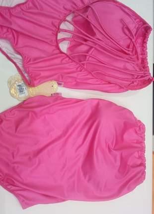 Body feminino zigma neon com tiras atrás