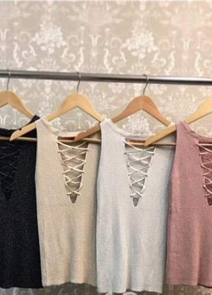 Blusa fios de nylon