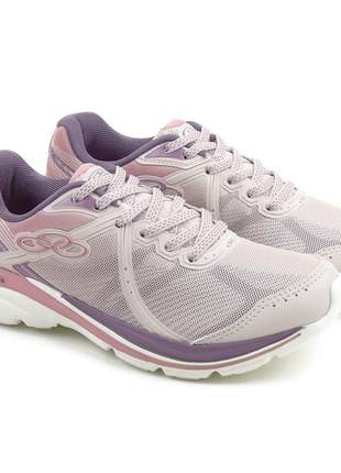 Tênis feminino olympikus glam 434 na cor pettit calendula (rosa)