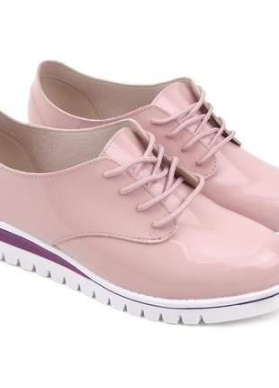 Sapato beira rio conforto verniz premium 4174.719 na cor rosa