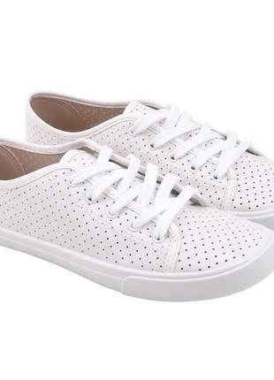 Tênis feminino moleca 5296.110 na cor branco