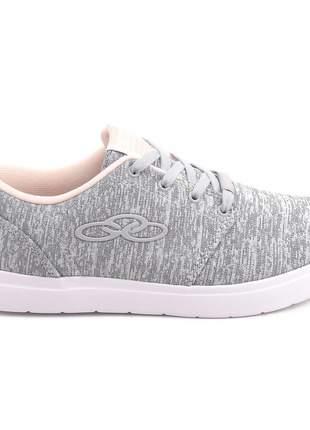 Tênis feminino casual cinza moda skate passeio confortavel caminhadas