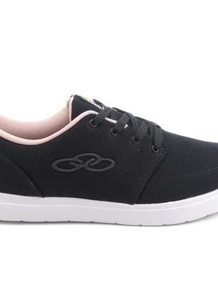 Tênis preto feminino casual moda skate passeio confortavel caminhadas