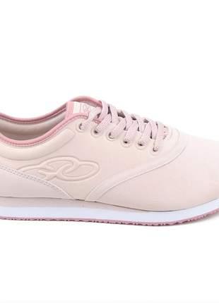 Tênis casual feminino olympikus rosa esportivo jogging confortavel pra passear