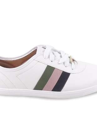 Tênis branco vizzano casual feminino sapatênis esportivo confortavel pra passear