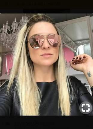 Óculos de sol espelhado rosa