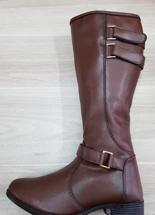 Bota feminina cano alto marrom
