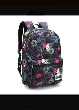 Bolsa mochila feminina denlex com estampa