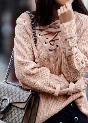 Blusa em tricot feminino