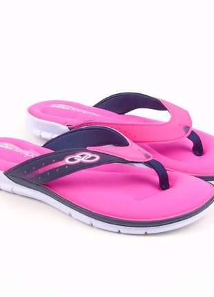 Chinelo olympikus feminino pink/marinho venice feetpad lançamento
